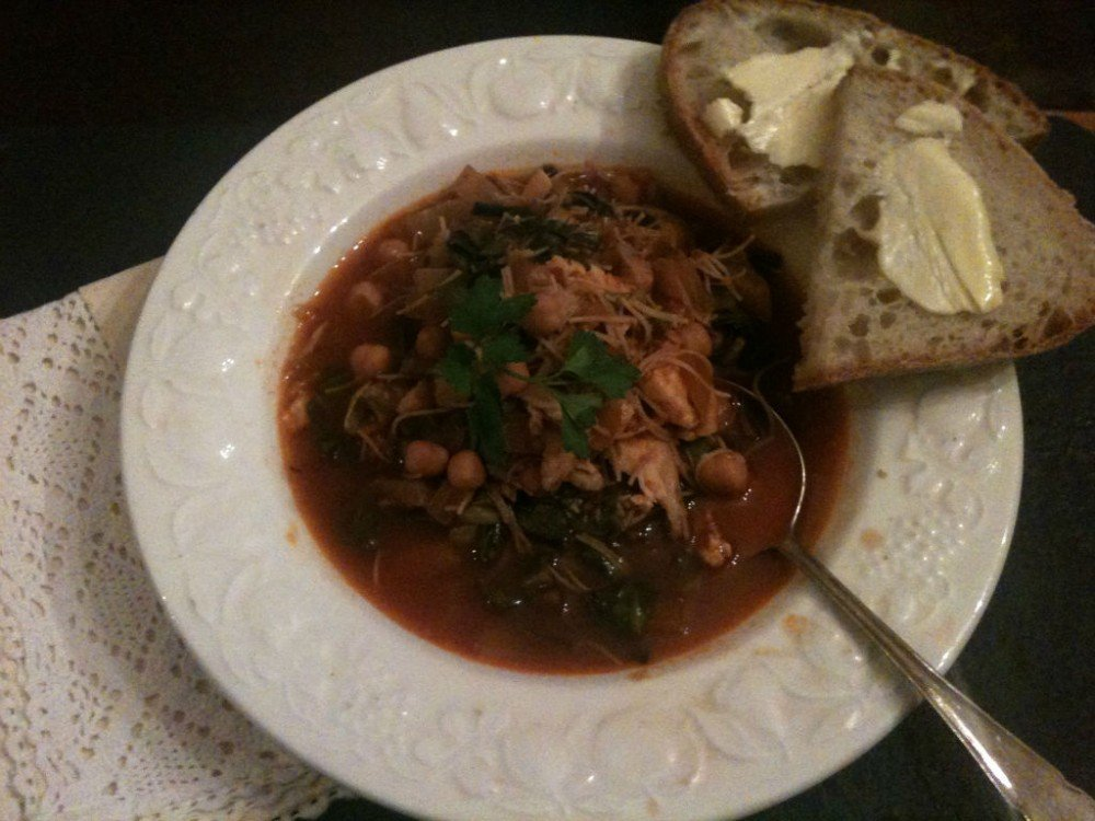 Warming Tunisian Stew with Smoked Fish