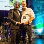 Wild Country Organics: Farmer Adrian collecting Soil Association Best Produce award