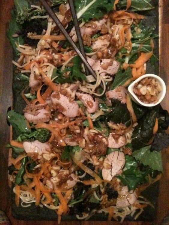 Thai Noodle Salad with Honey Roast Pork & Peanut Dressing