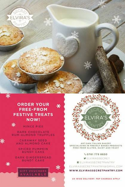 Free from Christmas orders from Elvira's Secret Pantry