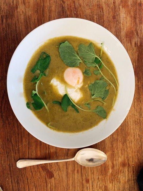 Market Recipe: Sorrel & Celeriac Soup (with optional poached egg)